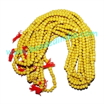 Natural Wooden Beads String (mala), color yellow, size: 4mm