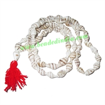 Mother of Pearl-Shell Beads String (mala), size: 7x12mm