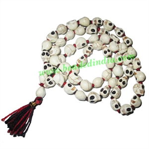 Skull (Narmund) Beads String (mala), size: 10-12mm