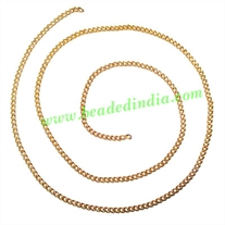 Gold Plated Metal Chain, size: 1x2mm, approx 100.7 meters in a Kg.