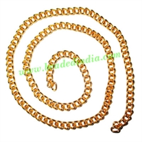 Gold Plated Metal Chain, size: 1x4mm, approx 26.7 meters in a Kg.