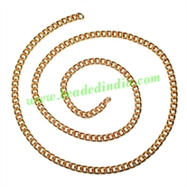 Gold Plated Metal Chain, size: 1x3mm, approx 40.7 meters in a Kg.