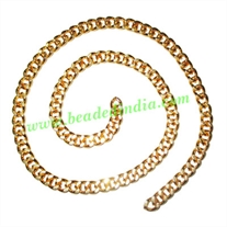 Gold Plated Metal Chain, size: 1.5x5mm, approx 19.9 meters in a Kg.