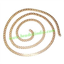 Gold Plated Metal Chain, size: 1x3.5mm, approx 37.7 meters in a Kg.