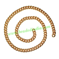 Gold Plated Metal Chain, size: 1x5mm, approx 19.2 meters in a Kg.