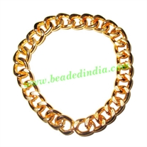Gold Plated Metal Chain, size: 2x9mm, approx 7.6 meters in a Kg.