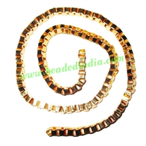 Gold Plated Metal Chain, size: 4mm, approx 21.4 meters in a Kg.