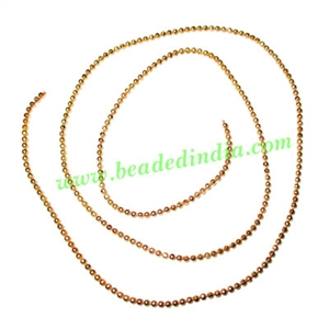Gold Plated Metal Chain, size: 1.5mm, approx 112.5 meters in a Kg.