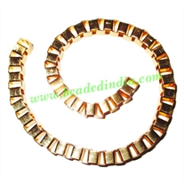 Gold Plated Metal Chain, size: 6mm, approx 10.8 meters in a Kg.