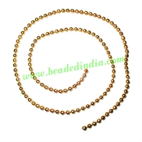 Gold Plated Metal Chain, size: 2.5mm, approx 50.8 meters in a Kg.