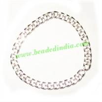 Silver Plated Metal Chain, size: 1x4mm, approx 35.6 meters in a Kg.