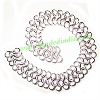 Silver Plated Metal Chain, size: 1x16mm, approx 8.8 meters in a Kg.