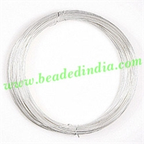 Copper Based Silver Plated Metal Wire 18 gauge (1.02mm).