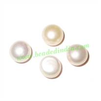 Fresh Water Pearl for Rings, flat back, weight approx 0.5 grams, size 6x7mm.