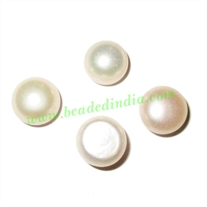 Fresh Water Pearl for Rings, flat back, weight approx 1.4 grams, size 7x10mm.