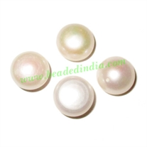 Fresh Water Pearl for Rings, flat back, weight approx 1.85 grams, size 8x12mm.