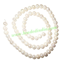 Fresh Water Pearl String, approx 73 pearls of size 6mm in a string