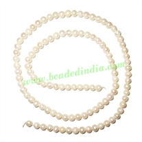 Fresh Water Pearl String, approx 108 pearls of size 4mm in a string