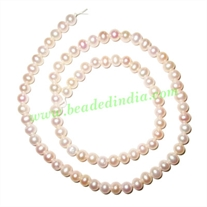 Fresh Water Pearl String, approx 82 pearls of size 5mm in a string