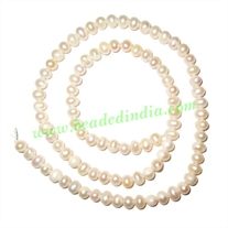 Fresh Water Pearl String, approx 93 pearls of size 4.5mm in a string