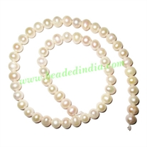 Fresh Water Pearl String, approx 56 pearls of size 8mm in a string
