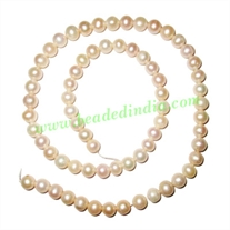 Fresh Water Pearl String, approx 68 pearls of size 6mm in a string