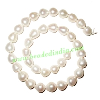 Fresh Water Pearl String, approx 36 pearls of size 10x12mm in a string