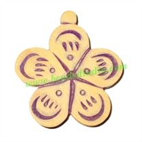 Handmade wooden fancy pendants, size : 48x43x5mm