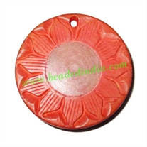 Handmade wooden fancy pendants, size : 30x6mm