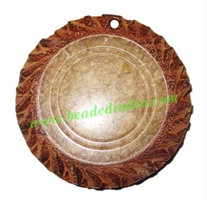 Handmade wooden fancy pendants, size : 42x7mm