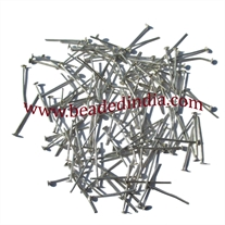 Silver Plated Headpin size: 1.5 inch (38 mm), head size : 2.5mm, weight: 0.12 grams.