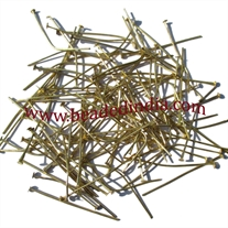 Gold Plated Headpin size: 1.0 inch (25 mm), head size : 2.5mm, weight: 0.09 grams.