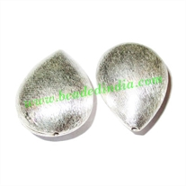 Sterling Silver .925 Brushed Beads, size: 29x20.5x12mm, weight: 6.35 grams.