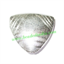 Silver Plated Brushed Beads, size: 35x35x11mm, weight: 11.41 grams.