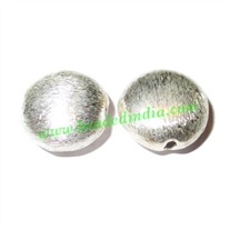 Sterling Silver .925 Brushed Beads, size: 13x14x8mm, weight: 1.74 grams.