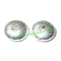 Silver Plated Brushed Beads, size: 5x12mm, weight: 1.14 grams.