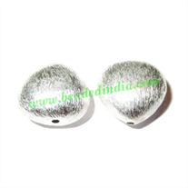 Sterling Silver .925 Brushed Beads, size: 11x12.5x12mm, weight: 1.31 grams.