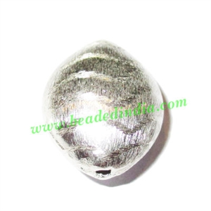 Sterling Silver .925 Brushed Beads, size: 21.5x17x12mm, weight: 4.26 grams.