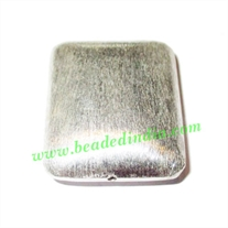 Silver Plated Brushed Beads, size: 29x25x9mm, weight: 8.3 grams.