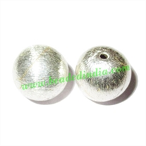 Sterling Silver .925 Brushed Beads, size: 13mm, weight: 2.6 grams.