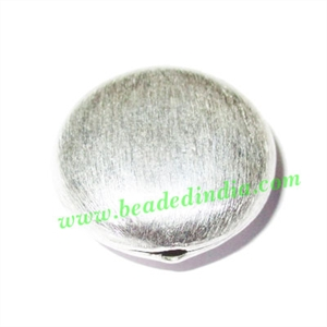 Sterling Silver .925 Brushed Beads, size: 26x11mm, weight: 7.45 grams.