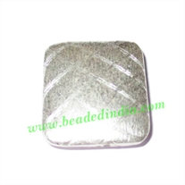 Silver Plated Brushed Beads, size: 22x20x6mm, weight: 5.82 grams.