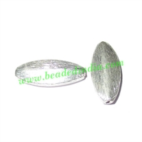 Sterling Silver .925 Brushed Beads, size: 18x8x3mm, weight: 1.09 grams.