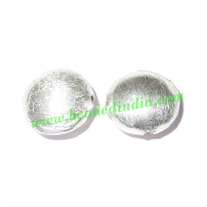 Sterling Silver .925 Brushed Beads, size: 10x6mm, weight: 0.77 grams.