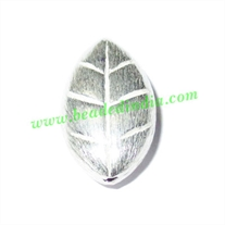 Sterling Silver .925 Brushed Beads, size: 21x12x7mm, weight: 2.37 grams.
