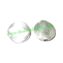 Sterling Silver .925 Brushed Beads, size: 11x3mm, weight: 0.89 grams.