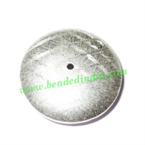 Silver Plated Brushed Beads, size: 9x30mm, weight: 9.79 grams.