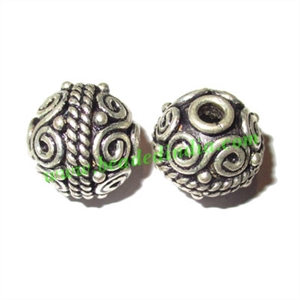 Sterling Silver .925 Fancy Beads, size: 13x14mm, weight: 4.34 grams.