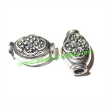 Sterling Silver .925 Fancy Beads, size: 15.5x10x8mm, weight: 2.06 grams.