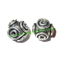Sterling Silver .925 Fancy Beads, size: 11mm, weight: 2.16 grams.